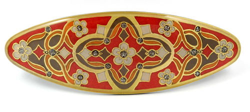 Hair-clip in red-gold combination