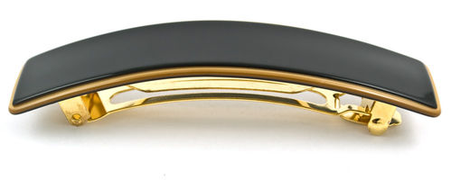 Haarspange elegant schwarz-gold